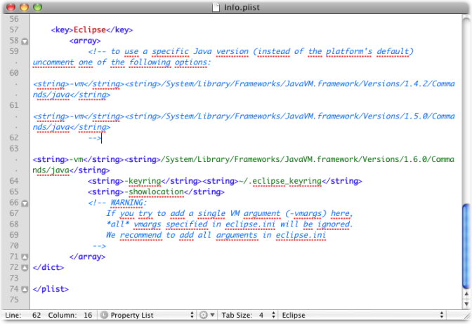 info plist textmate