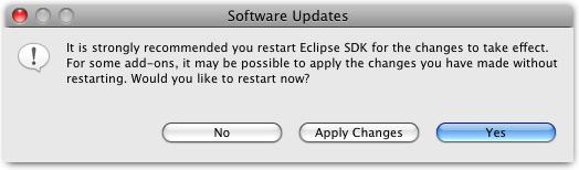 install new available software restart