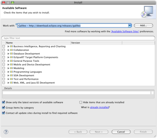 install new available software