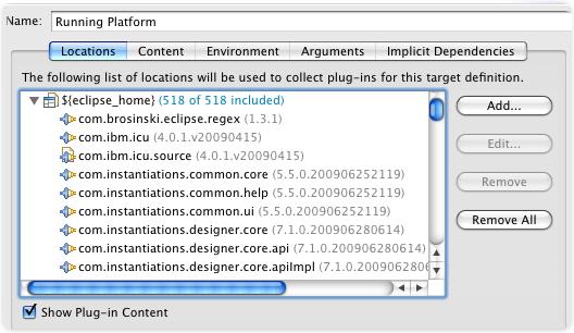running platform edit