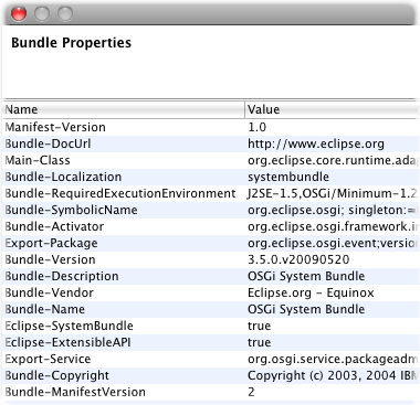 bundle monitor bundles properties