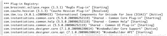 configuration - plug-ins