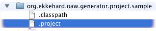 dot project file oaw nature