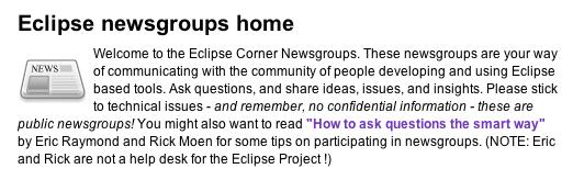 eclipse NNTP home