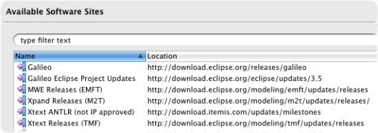 install oaw eclipse add software sites releases