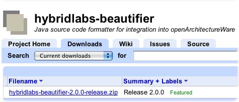 java code beautifier