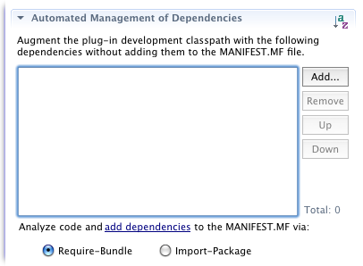 Manifest AMD dependencies