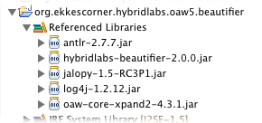 oaw5 hybridlabs referenced libs