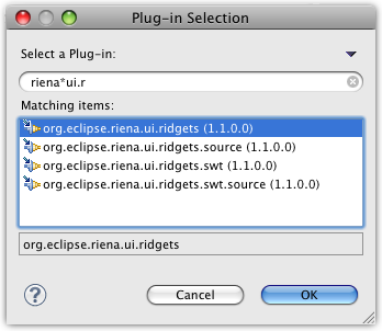plug-in dependencies focus on selection