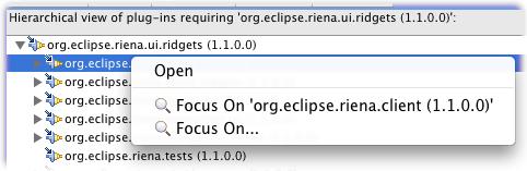 plug-in dependencies right click