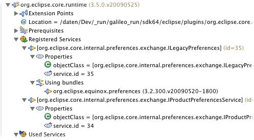 plugin-registry e core rt w registered services