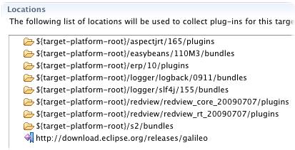 target platform locations using string var