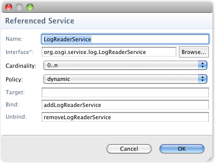 DS referenced LogReaderService