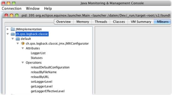 jmx mbeans logback classic