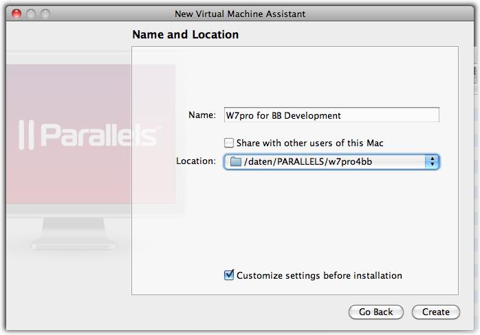 HowTo create Parallels VM for BlackBerry Development ...