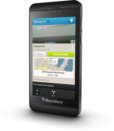 Z10-foursquare-checkin
